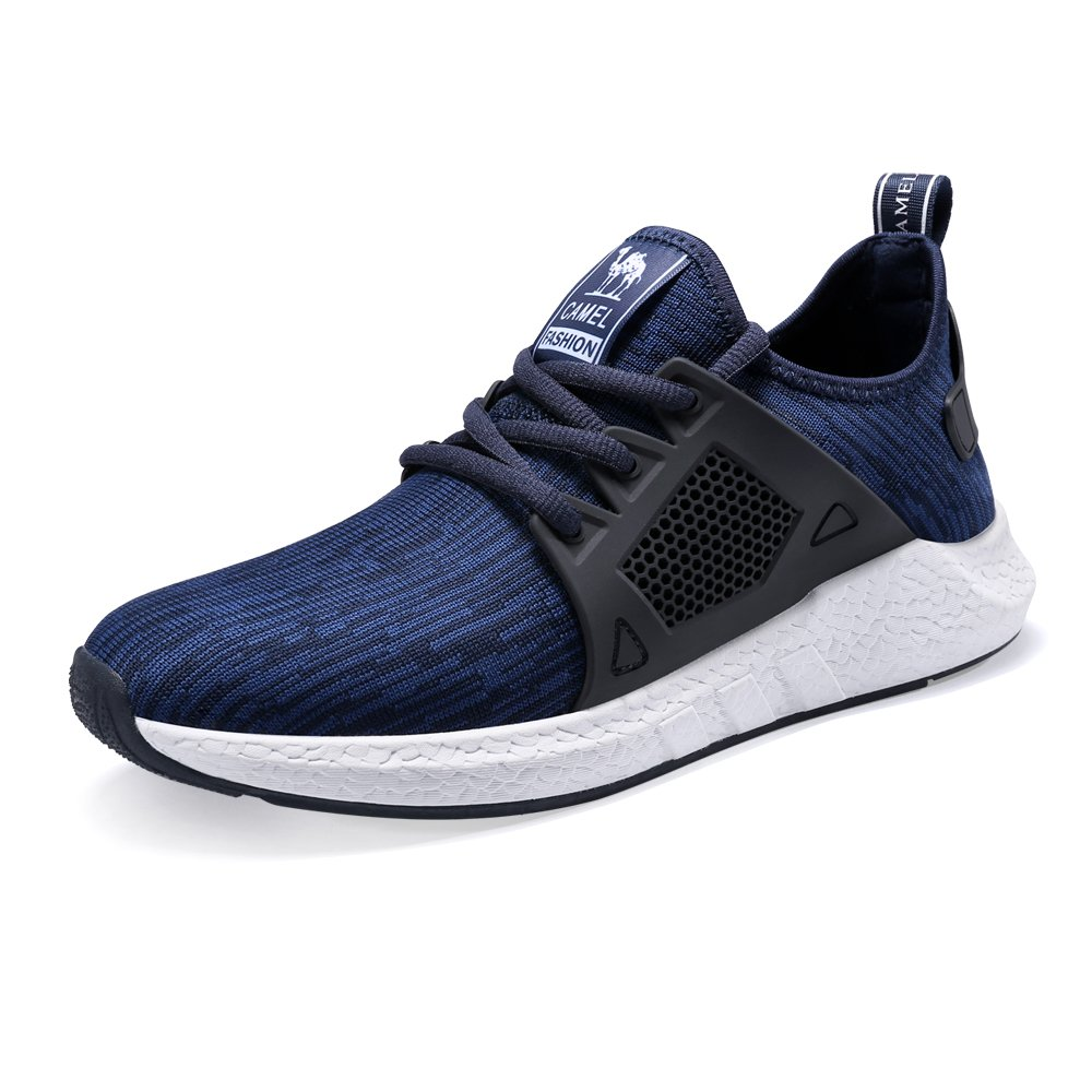Camel Men Sport Sneaker Breathable Running Sneaker Athletic Shoes Trial Shoes for Road Walking Blue 10 Size