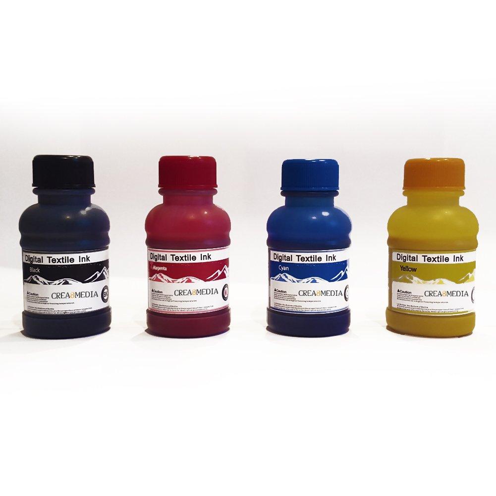 4 colores 100 ml de tinta todos los de tela DTG Hangerworld ...