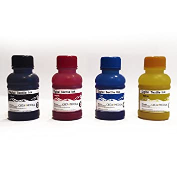 4 Farben 100 ml DTG-Textil Tinte alle Direct To Garment Drucker ...