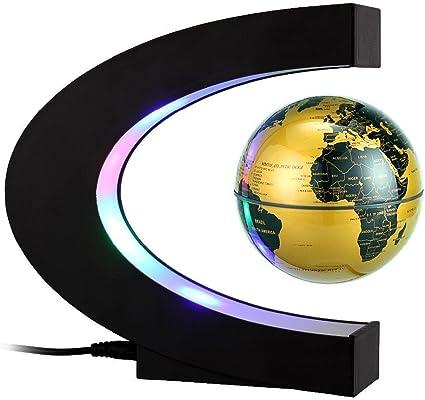 Megadream levitación magnética flotante Mapa del mundo globo w/C ...