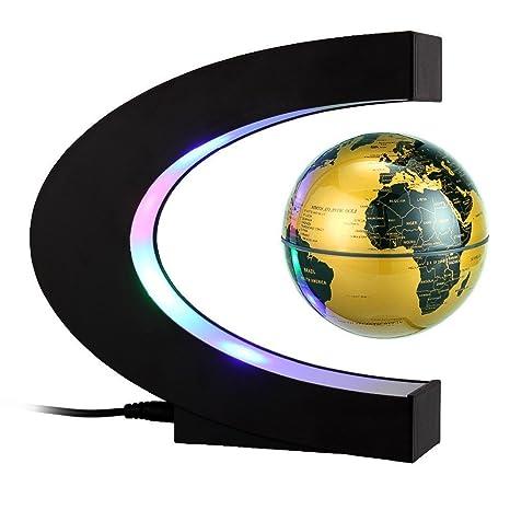 Amazon megadream anti gravity floating world map globe megadream anti gravity floating world map globe magnetic levitation c shape base 3 inch gumiabroncs Image collections
