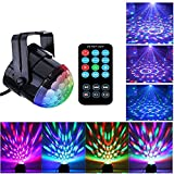 Stage Light Disco Ball Lights with Remote , Sound Activated Party Light RGB Strobe Light with 7 Color Modes for Home Birthday Wedding Halloween Christmas Festival (Disco lights with remote)