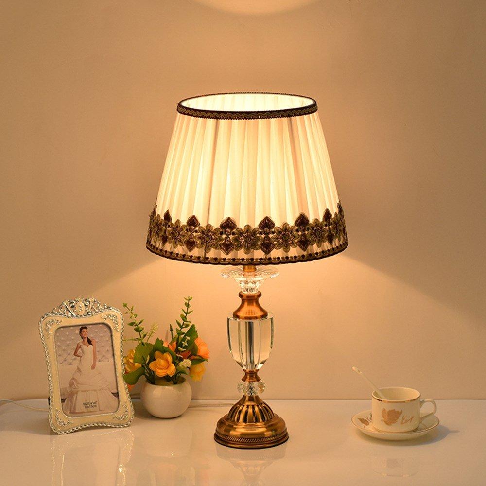 5151BuyWorld Lampe  Klassische Amerikanische Luxary Schlafzimmer Foyer Europäischen Tischleuchte Kristall Tischlampe Glas Hoch Tischleuchte Nachttischlampe Tischlampe Top Qualität