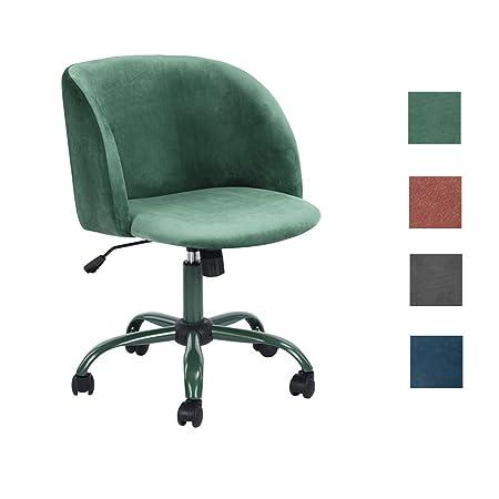 Aingoo Velvet Computer Office Desk Chair Swivel Accent Lounge Chair For  Living Room (Aqua)