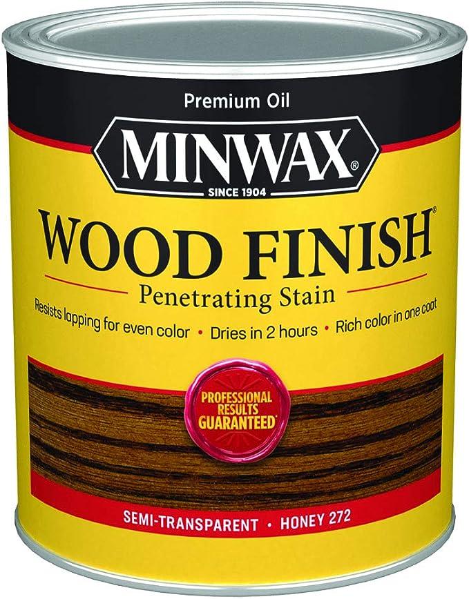 Minwax 211695 Base de aceite miel madera acabado interior manchas, 1 Quart por Minwax