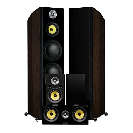 Fluance Signature Series Hi Fi 50 Surround Sound Home Theater Speaker System Including Three
