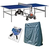 Kettler Champ 3.0 Outdoor Table Tennis Table with Outdoor Accessory Bundle