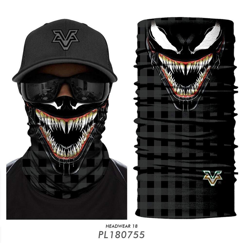 HXLF 3D Men Deadpool Face Mask Diadema Venom Spider-Man Neck Buffs Summer Ski Mascaras Color : HR040466