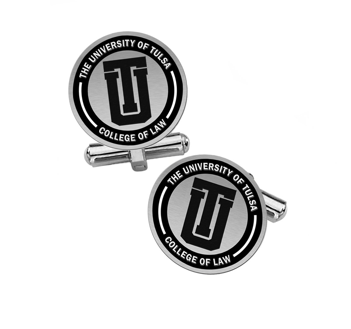 The University of Tulsa College of Law Cufflinks - Tulsa Golden Hurricanes Cufflinks by College Jewelry (Image #1)