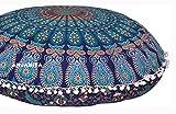 "ANJANIYA - 32"" Mandala Bohemian Yoga Meditation Floor Pillow Comfortable Home Car Bed Sofa Cushion Cover Couch Seating Large Zipped Throw Hippie Decorative Ottoman Boho Indian"