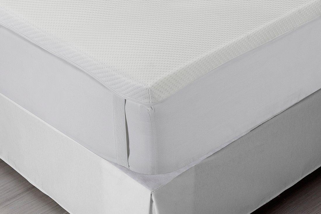 Classic Blanc - Topper, sobrecolchón viscoelástico aloe vera, desenfundable, firmeza media, 180 x 200 cm, altura 5 cm, cama 180 (Todas las medidas): ...
