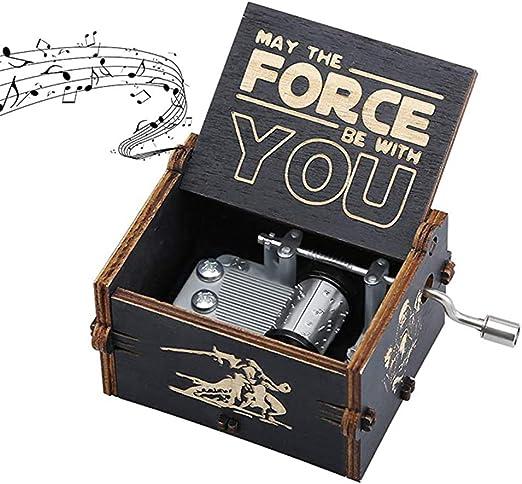 REYOK Caja de Música de Madera Manivela,Caja de Música de Madera,Pure Hand-Classical Music Box,Caja de Música de Madera a Mano Creative Wooden Crafts Best Gifts: Amazon.es: Hogar