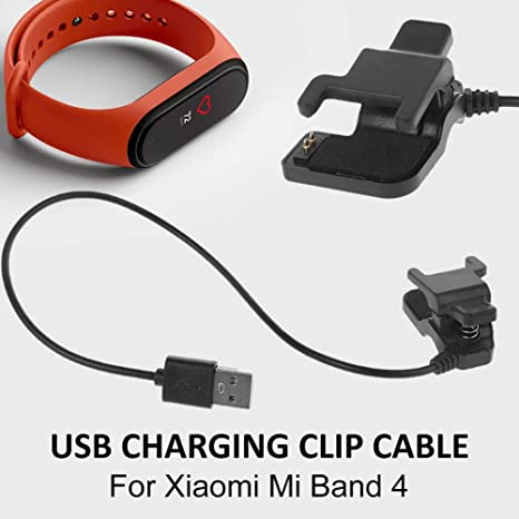 Image of popchilli Cable De Carga Adaptador para Xiaomi Mi Band 4, Cable De Carga USB Cable Adaptador De Cargador Sin Desmontaje para Pulsera Inteligente Xiaomi Mi Band 4 serviceable