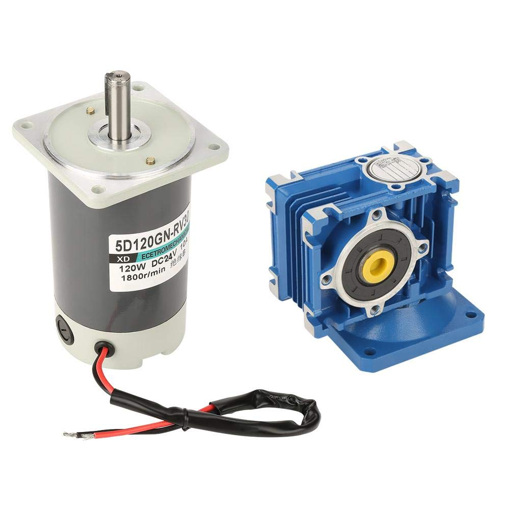 DC24V 120W 5D120GN-RV30 Self-Locking Reversible Worm Gear Motor High Torque Speed Reduction Motor 60K