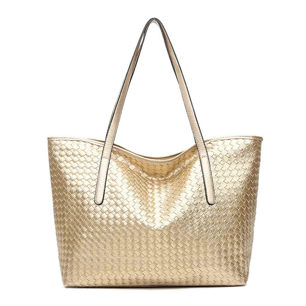 ce7302b89a Amazon.com  Black Deals Friday Sales Deals-Women Large Shoulder Bag Weave Handbag  Tote(gold)  Shoes