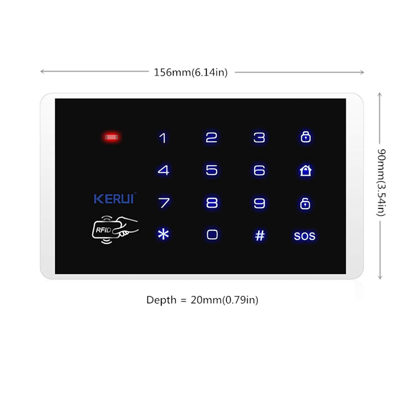 KERUI K16 Wireless RFID Keypad Security Alarm Systems Black