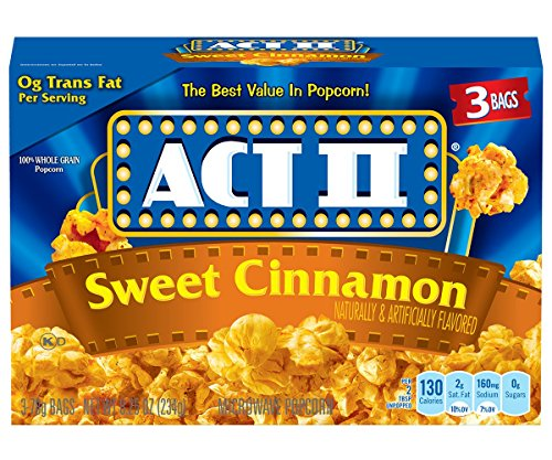 Cinnamon Flavored Popcorn (Act II Popcorn Sweet Cinnamon, 8.25 Ounce (Pack of)