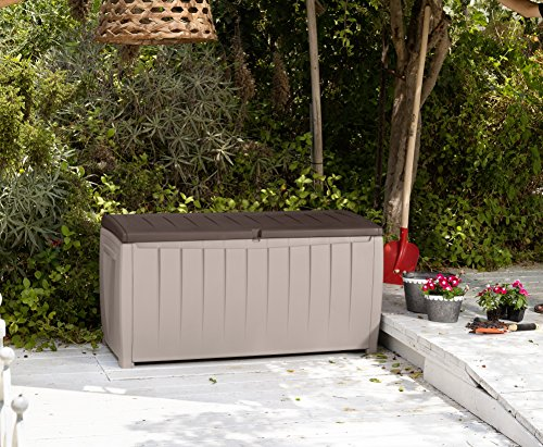 Keter Novel Plastic Deck Storage Container Box Outdoor Patio Furniture 90 Gal, Brown by Keter (Image #5)