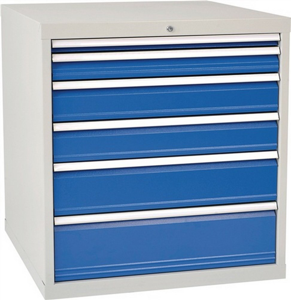 Schubladenschrank H1019xB1005xT736 grau/blau 1x75 1x100 1x125 1x150 1x200 1x250