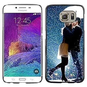 iKiki Tech / Estuche rígido - Kiss Sweet Couple Snow Romantic - Samsung Galaxy S6 SM-G920