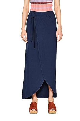 ESPRIT 067ee1d003, Falda para Mujer, Azul (Navy 400), Large