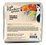Light Mountain Natural Bulk Hair Color and Conditioner, Black, 16 Ounce