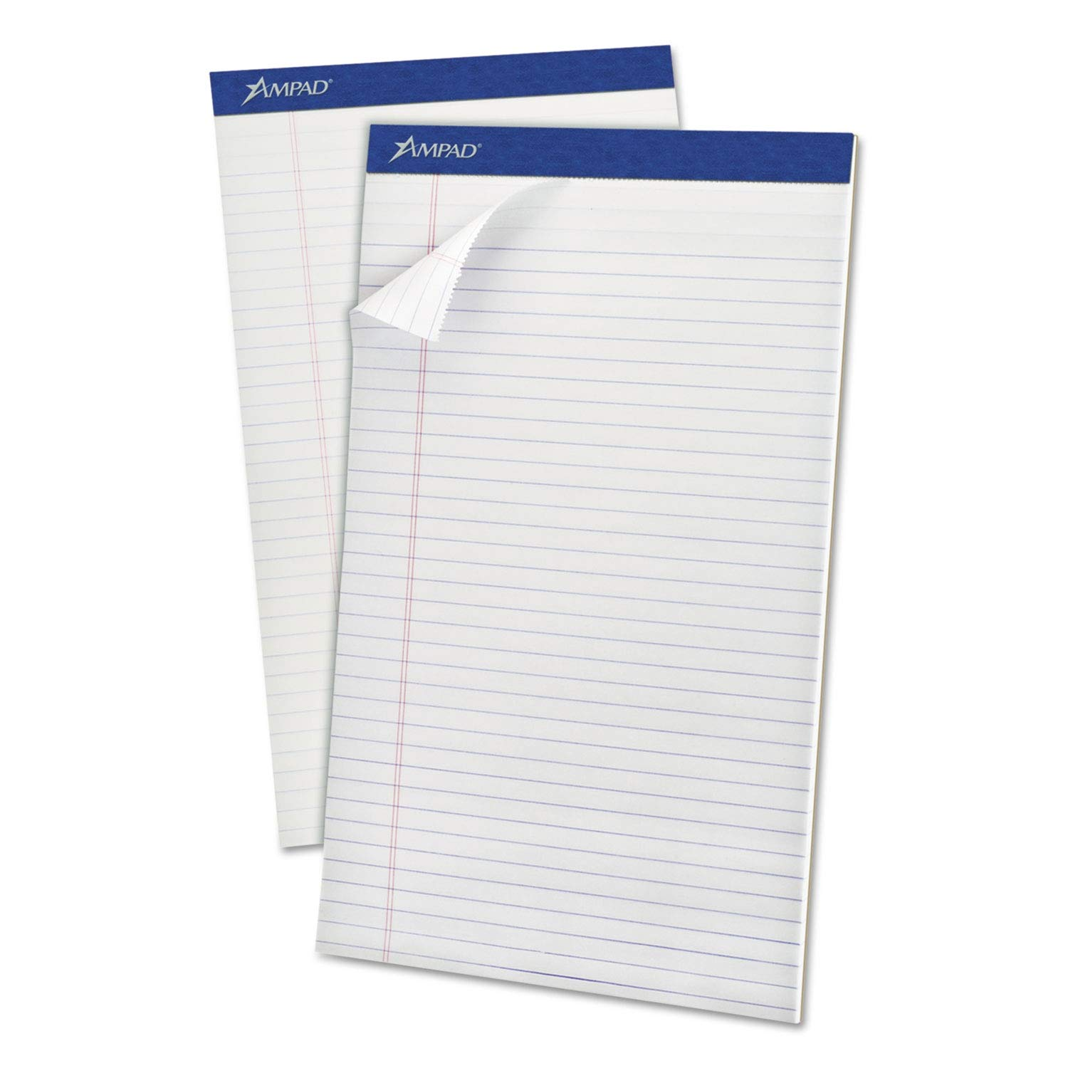 Ampad Perforated Writing Pad, 8 1/2 x 14, White, 50 Sheets, Dozen - 20-330