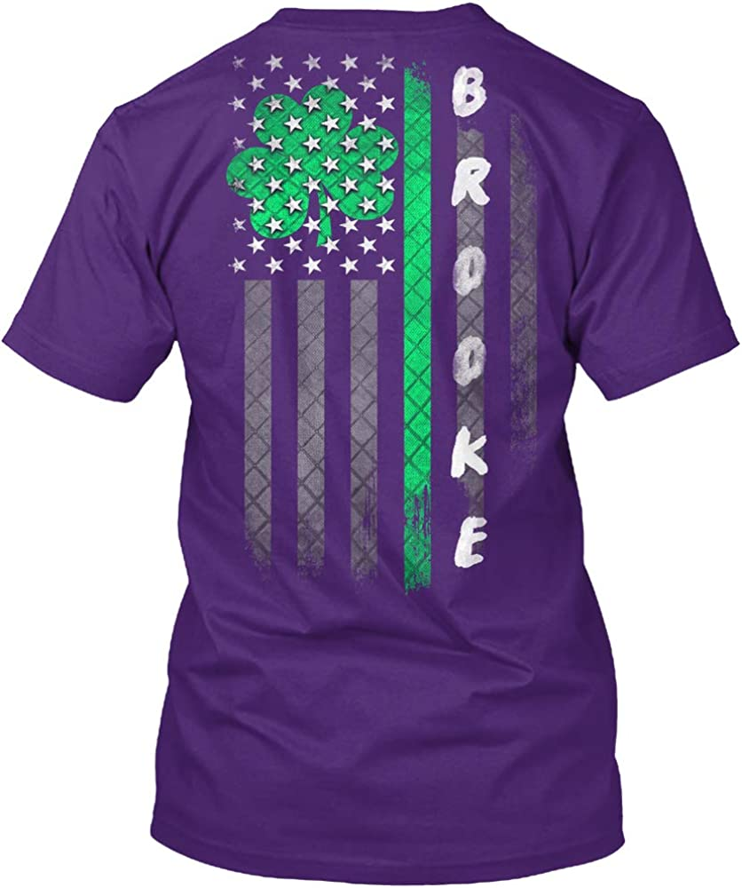 Brooke Lucky Family Clover Flag Tshirt - Hanes Tagless Tee