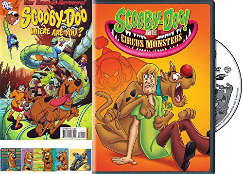 Professor Phantasmo's Circus Fantastique Scooby-Doo Monsters Big Top Robots & Ghouls Episodes DVD pack & Where are you? Comic Book + Sticker Characters Set -