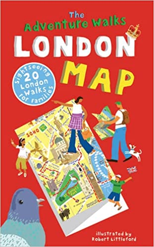 Sightseeing Map Of London.The Adventure Walks London Map 20 London Sightseeing Walks For