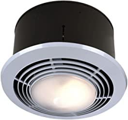 NuTone 9093WH Deluxe Heat-A-Ventlite Heater with Ventilator and Incandescent Ceiling Light,