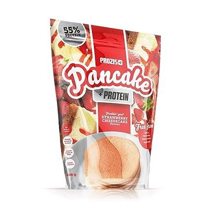 Pancake + Protein: Tortitas de avena con proteína 400 g Tarta de queso con fresas