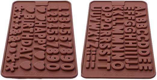 Xcellent Global Moule En Silicone Lettres Chiffres Symboles De Glace Chocolat Pour Décorations De Gâteau Couleur Aléatoire P Hg009