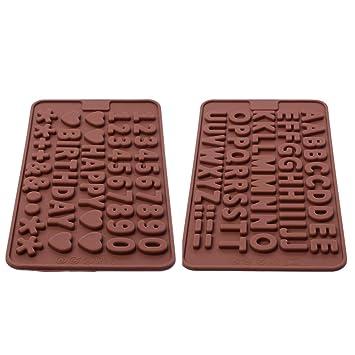 Xcellent Global Molde Letras / Números / Símbolos FELIZ CUMPLEAÑOS para Decoración con Hielo / Chocolate Bandeja Silicón Color Aleatorio S-HG009