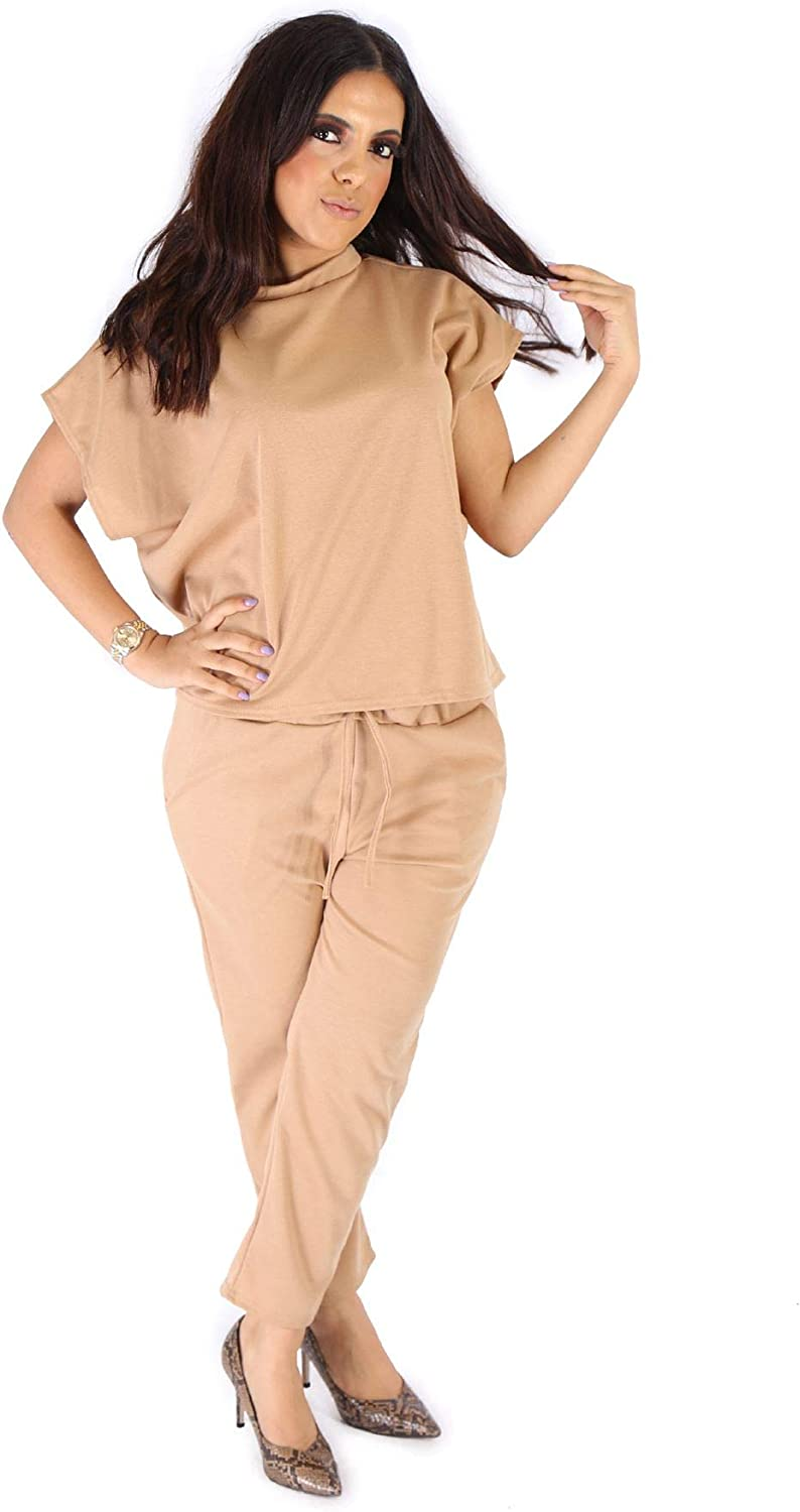 mymixtrendz Womens Casual Boxy Sleeve Crew Neck Co ord Set Tracksuit Bottom Jogger Top Ladies Loungewear