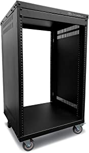 AxcessAbles RK16U Universal Equipment 16-Space Rolling Cabinet Rack