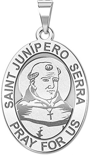 Solid 14K Yellow Gold 2//3 Inch Size of Dime PicturesOnGold.com Saint Homobonus Religious Medal