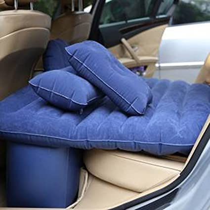 Indiana12 Car Inflatable Bed Outdoor Travel Air Sofa Car Bed Mattress  Camping Pad Rear Seat