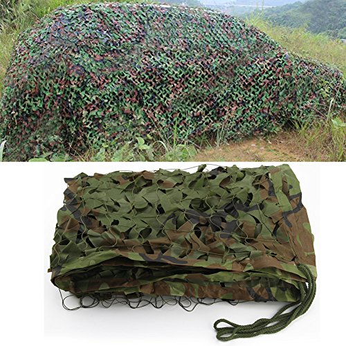 Bluecookies 9.8ft x 16.4ft Military Camo Netting Army Woodland Camouflage Netting Oxford Fabric Hunting Camping Net