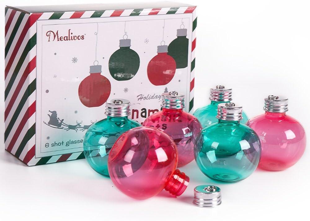 Mealivos Christmas Spirit Shot Glasses ,set of 6
