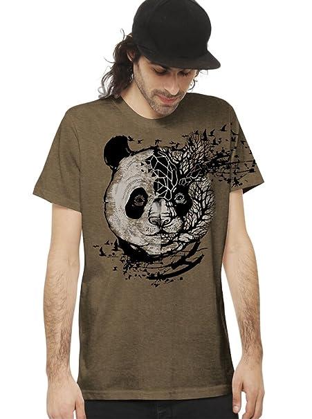 Camiseta con diseño gráfico psicodélico en Color Moka - Ropa Urbana de diseño para Hombre, Talla M: Amazon.es: Ropa y accesorios
