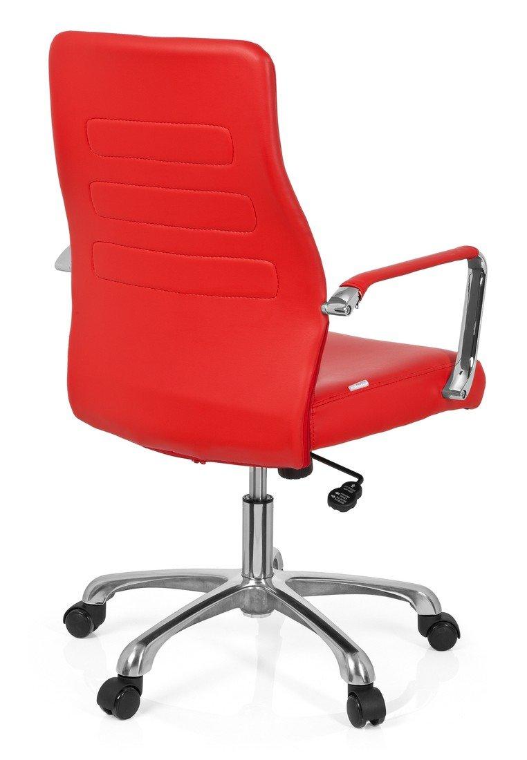 hjh OFFICE Sillón de Oficina operativo, Acero, Rojo