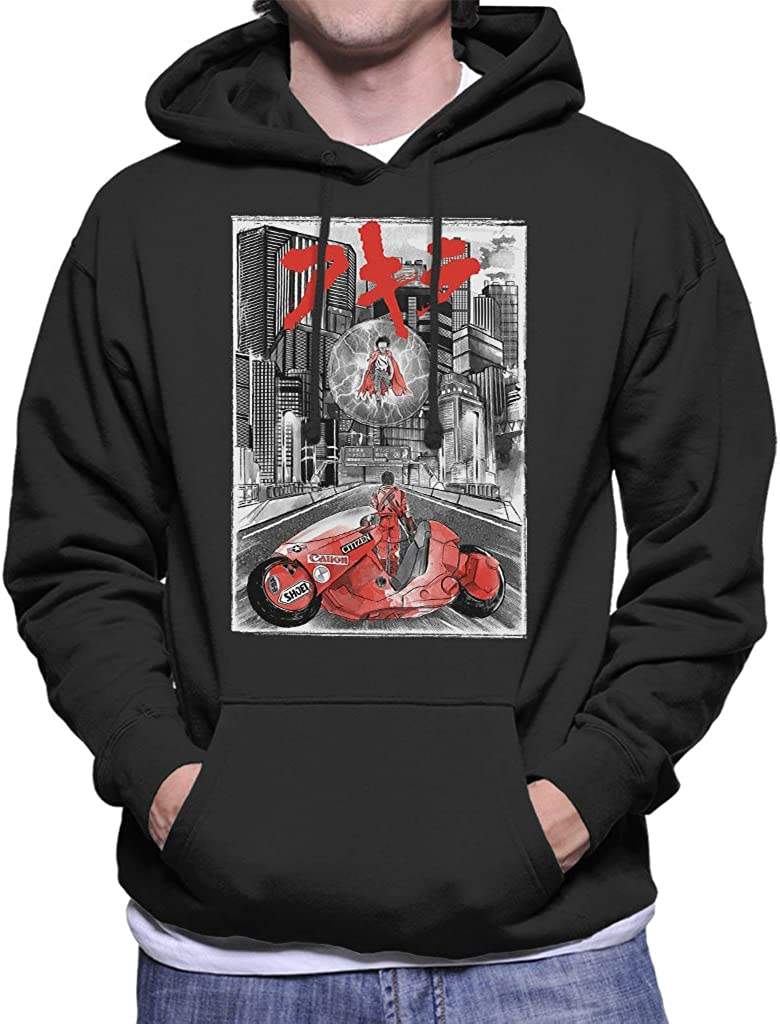 Cloud City 7 Akira Welcome to Neo Tokyo Citycscape Mens Hooded Sweatshirt