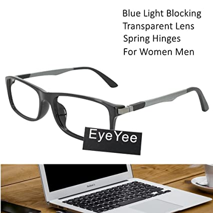 94d99afb3c Computer Reading Glasses 0.25 Black - 2017 New Fashion EyeYee Blue Light  Filter Block UV Spring