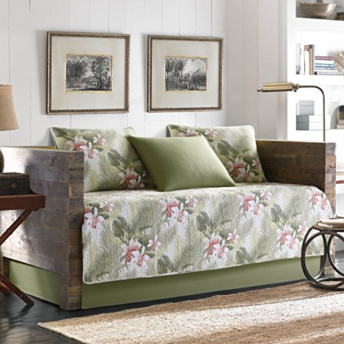 Tommy Bahama Tropical Orchid 5-Piece Daybed Cover Set, Twin, Medium Green