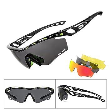BATFOX Gafas de Ciclismo Sol Hombre Mujer Polarizadas UV400 Protección Gafas Deportivas Tr90 Marco Irrompible Para