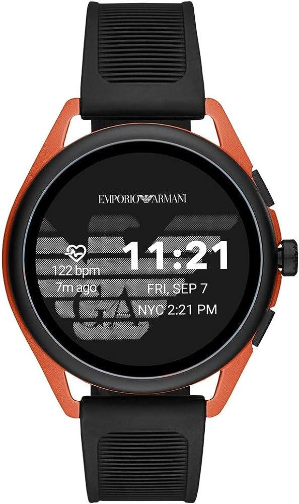 Smartwatch Emporio Armani Connected Gen 5 Matteo Rojo Aluminio Correa Goma ART5025
