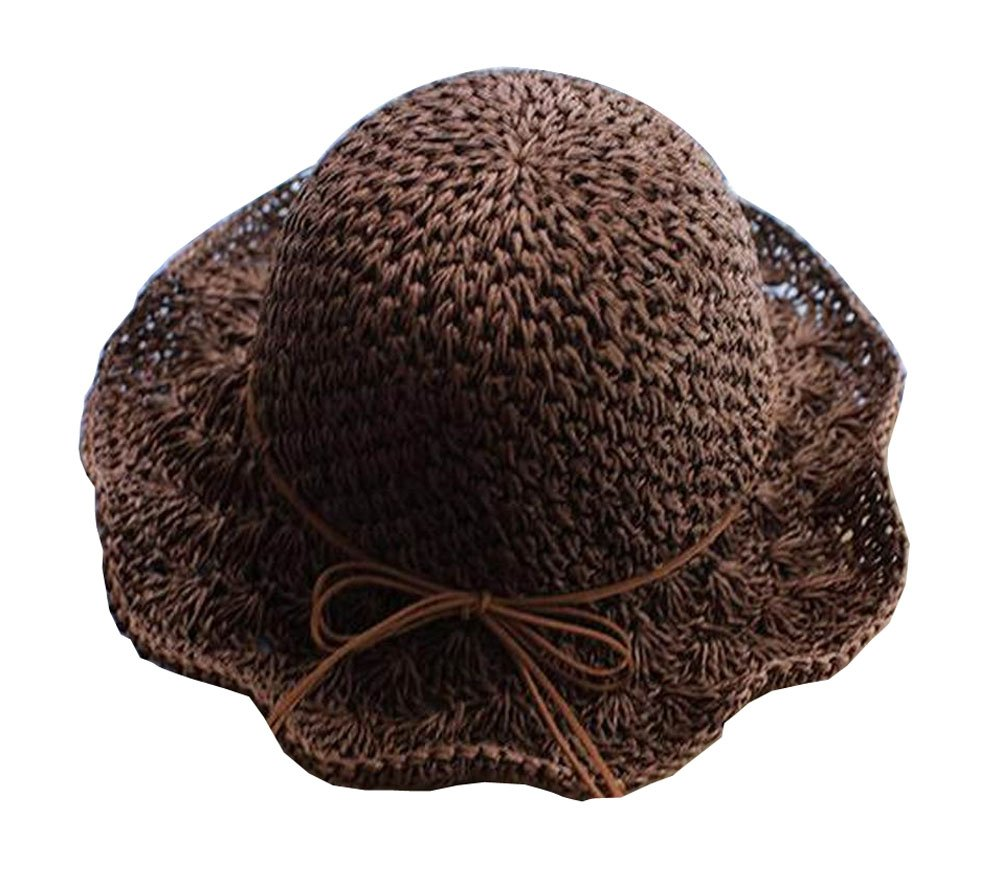 Elegant Lady Summer Straw Hat Beach Hat Wide Brim Hat Topper for Outdoor by Black Temptation (Image #1)