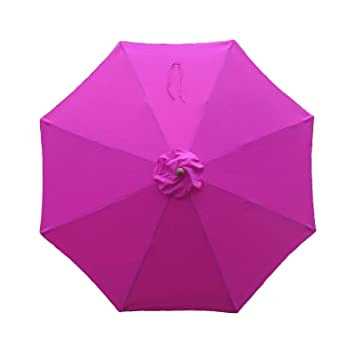 9ft Umbrella Canopy 8 Ribs in Fuchsia (HOT Pink, Canopy Only)