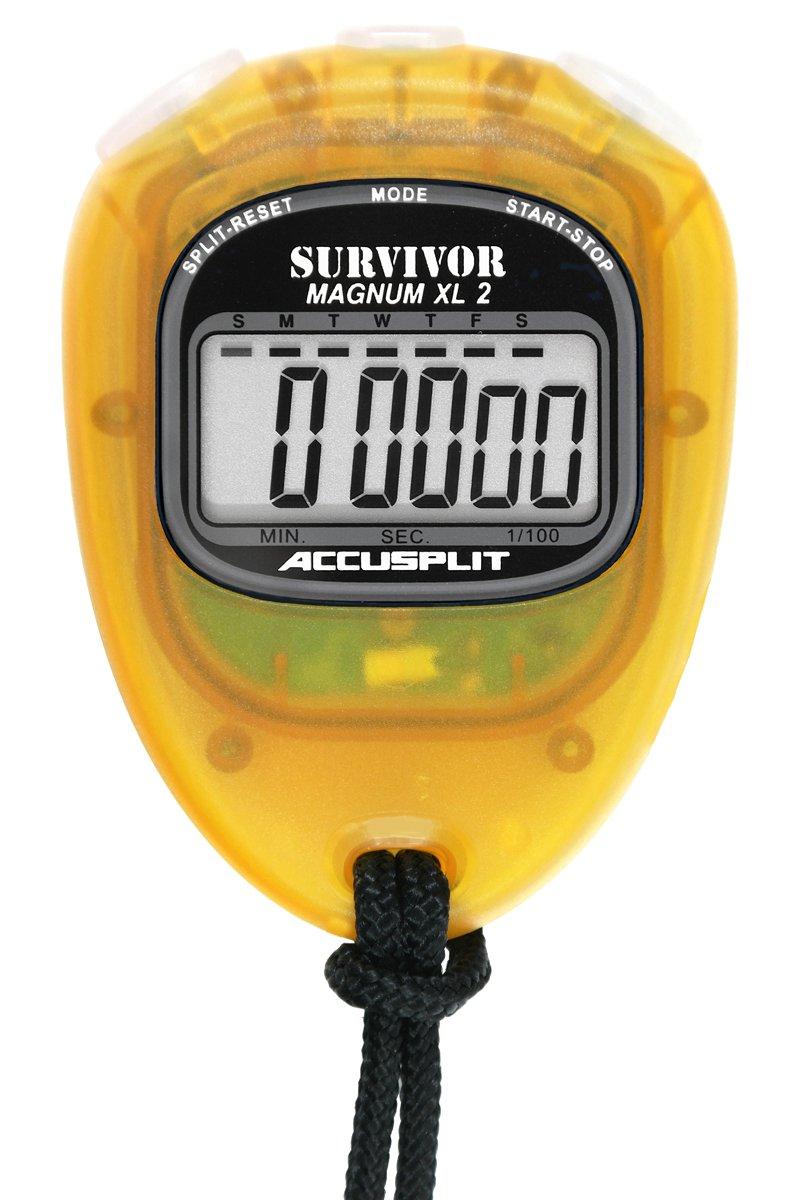 ACCUSPLIT New Survivor 2 Lemon New Survivor SX 2 Series Stopwatch Inc S2LN